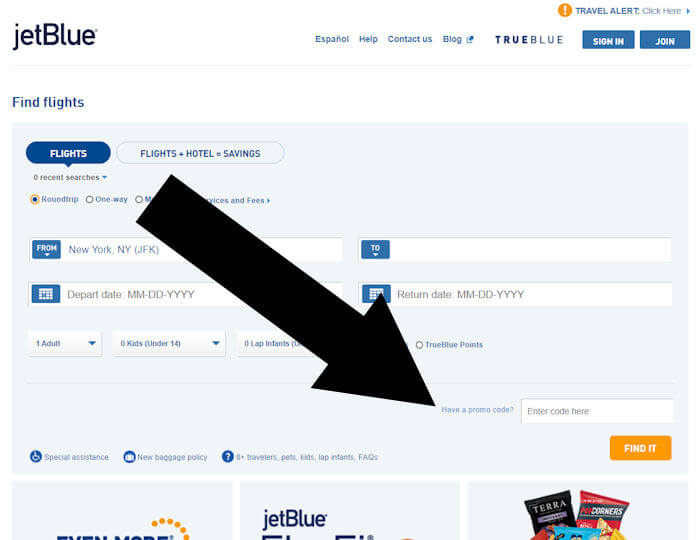 How do I redeem my JetBlue Coupon?