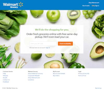 walmart grocery steps