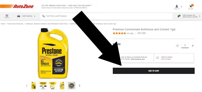 where do i enter the coupon on autozone
