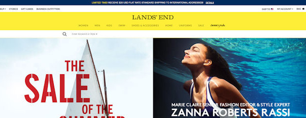 25% Off Orders When Using The Code At Checkout. This is the perfect time to get what you want or to start your shopping at Lands' End. Just feel free to enjoy 25% off orders when using the code at checkout by using Lands' End coupon code.