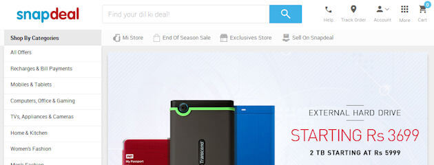 How to use discount coupon on snapdeal
