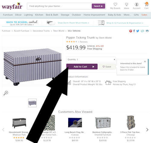 wayfair step two