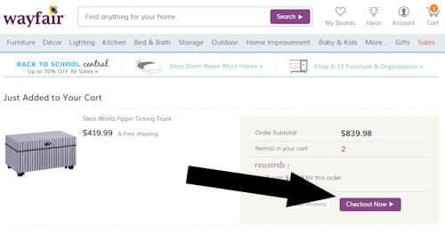 wayfair step three