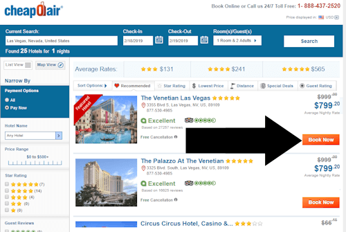 cheapoair hotel redeem 1