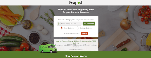 Where Do I Enter The Promotional Code On Peapod?