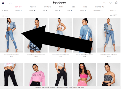 Where do I enter the promotional code on boohoo