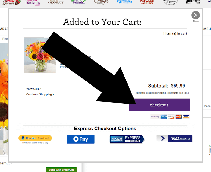 1800flowers step 2 redeem coupon