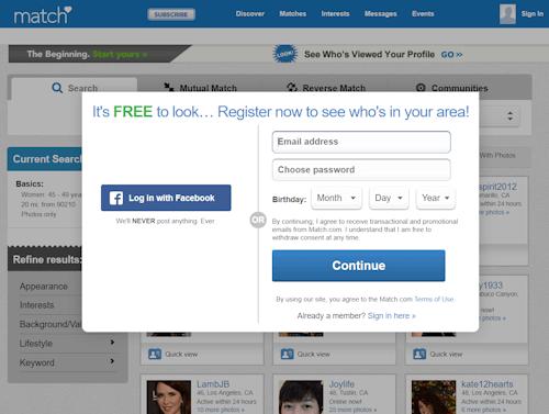 choosing a username for match com