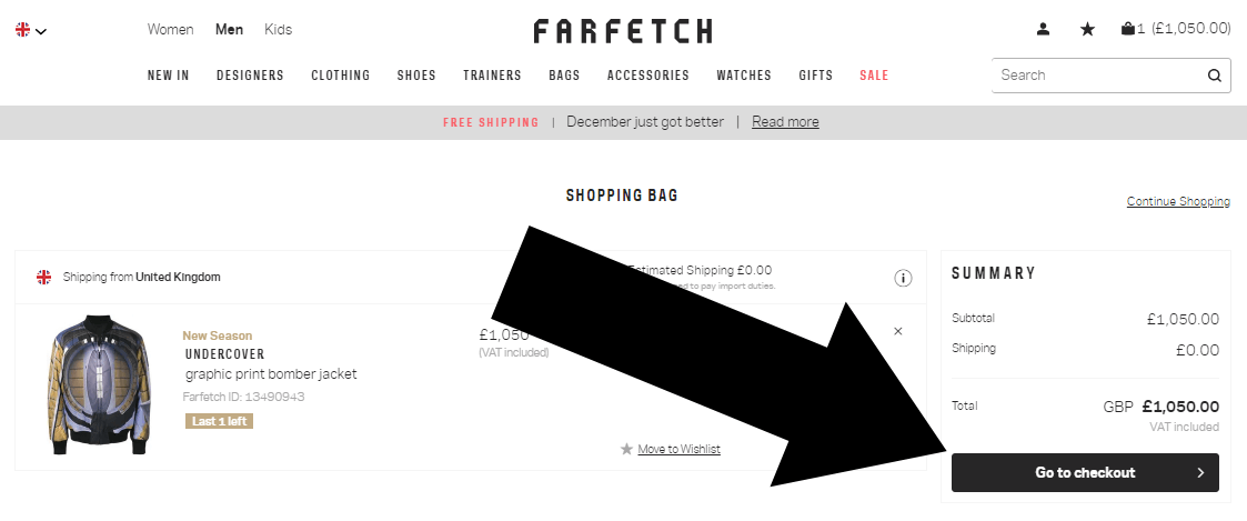 farfetch step 2 redeem coupon