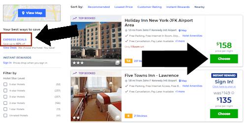 priceline hotel step two