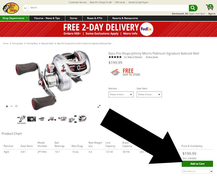 bass pro coupon step 2